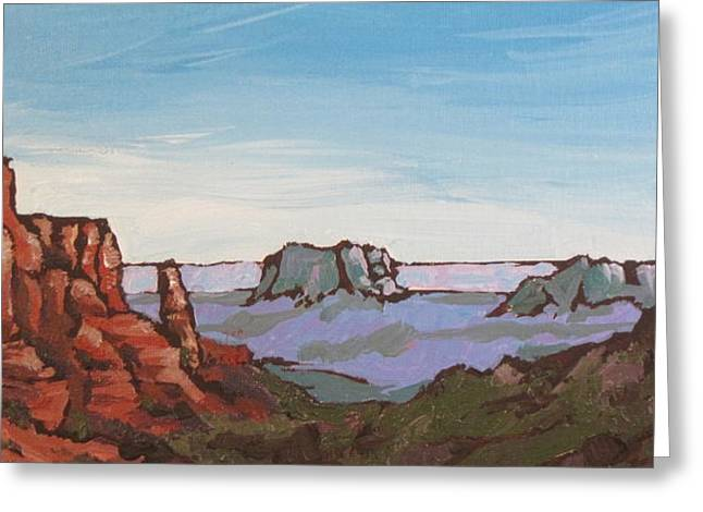 Oak Creek Greeting Cards - Sedona Vista Greeting Card by Sandy Tracey