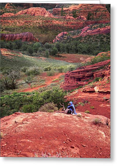 Luminist Greeting Cards - Sedona Vortex Greeting Card by Ric Soulen