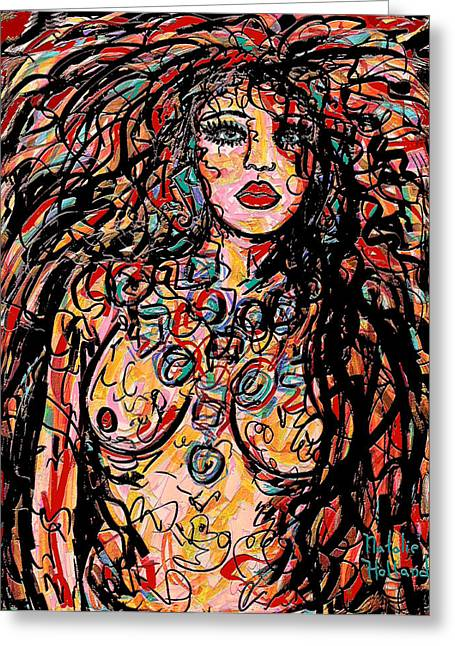 Seductress Greeting Card by Natalie Holland
