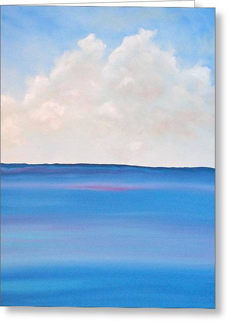 Clouds Paintings Greeting Cards - See Greeting Card by Kimby Faires