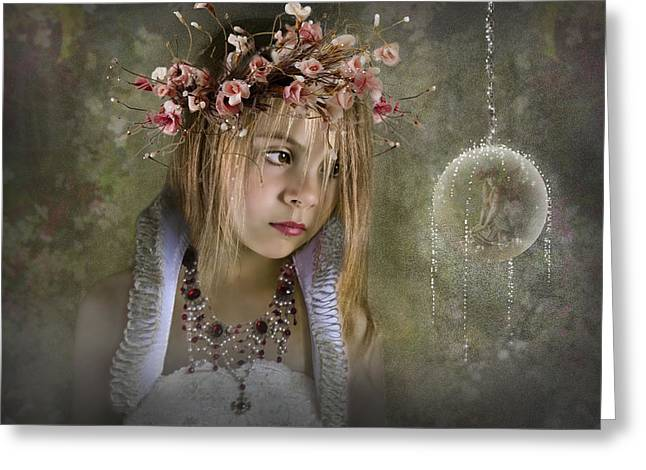 Best Sellers -  - Flower Pink Fairy Child Greeting Cards - Seeing Fairies Greeting Card by Ethiriel  Photography