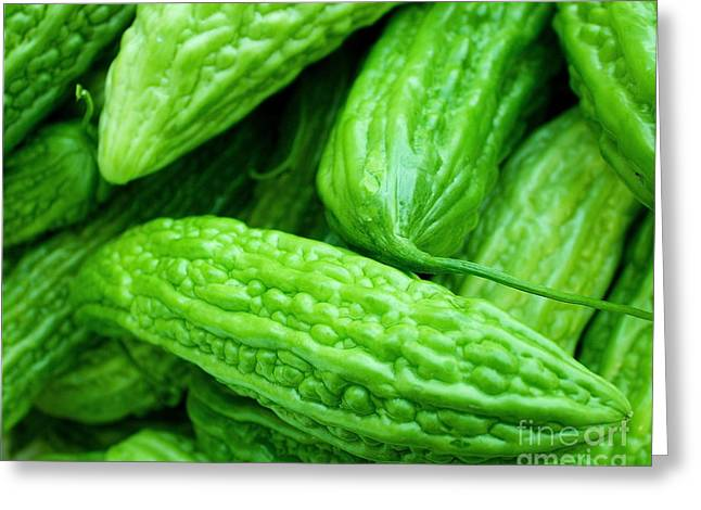 Green Beans Greeting Cards - Seeing green Greeting Card by Lisa Billingsley