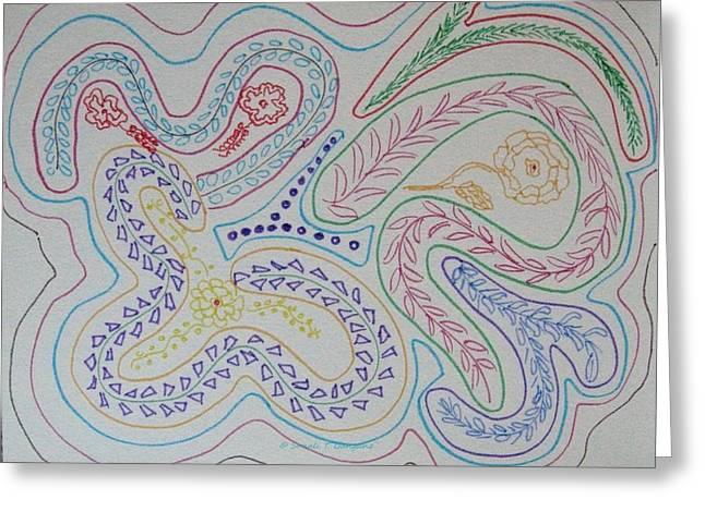 Reach Drawings Greeting Cards - Seek Greeting Card by Sonali Gangane