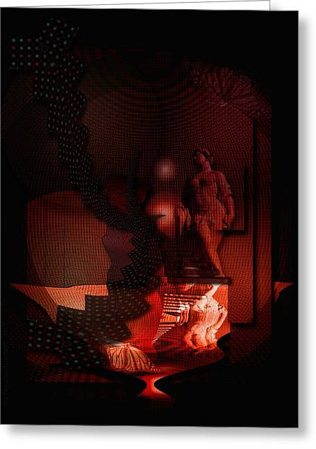 Subconscious Digital Art Greeting Cards - SeelenSpiegeleien - Mirrorings of the Soul Greeting Card by Mimulux patricia no