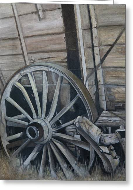 Wagon Pastels Greeting Cards - Seen Better Days Greeting Card by Stephanie L Carr