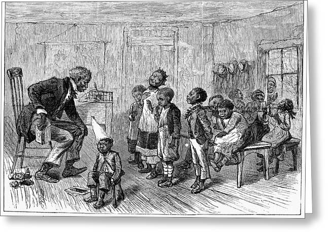 Jim Crow South Greeting Cards - Segregated School, 1879 Greeting Card by Granger