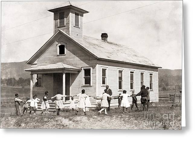 One Room School Houses Photographs Greeting Cards - Segregated School, 1921 Greeting Card by Granger