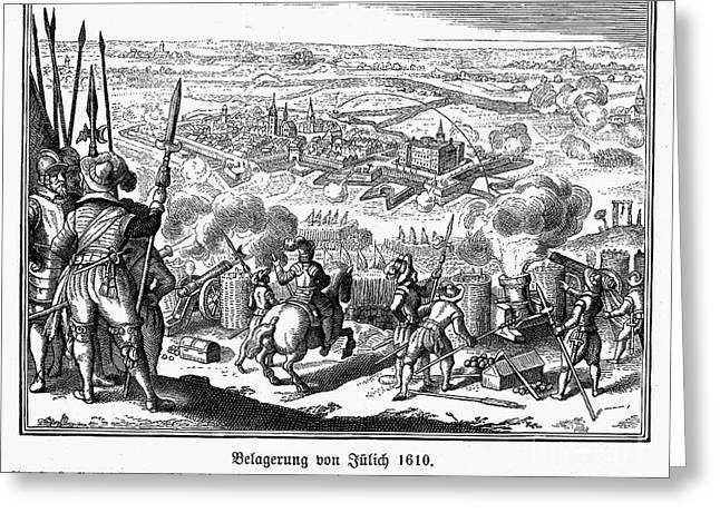 Cleves Greeting Cards - Seige Of Julich, 1610 Greeting Card by Granger