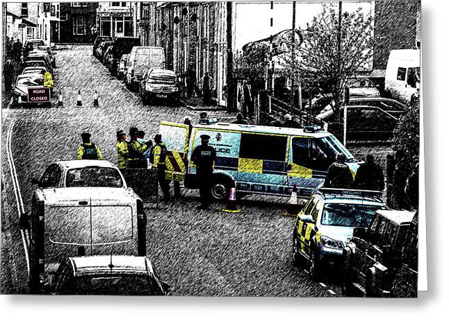 Bobbies Greeting Cards - Seige Greeting Card by Paul Howarth