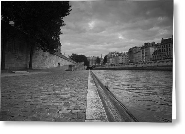 Night Cafe Greeting Cards - Seine in September Greeting Card by Laria Saunders