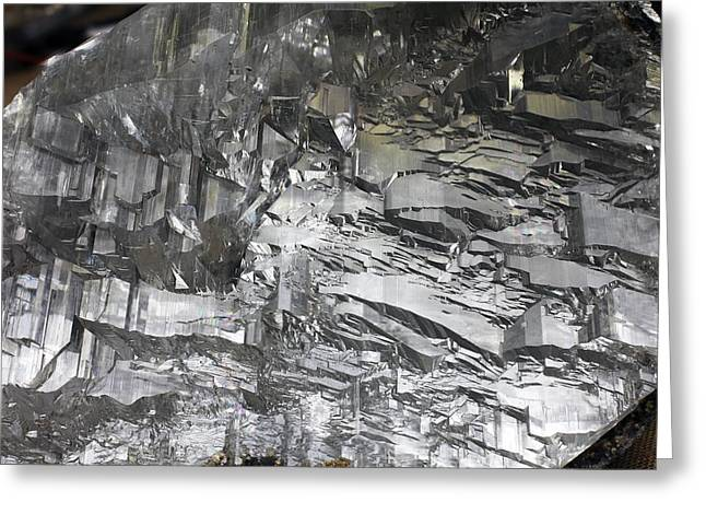 Calcium Sulphate Dihydrate Greeting Cards - Selenite Mineral Sample Greeting Card by Dirk Wiersma