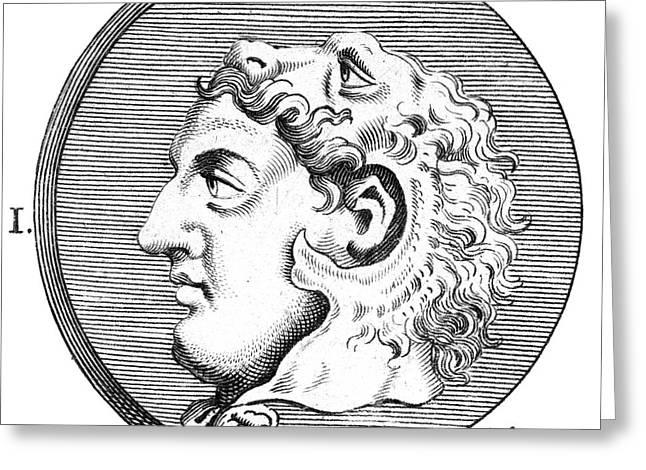 Seleucus I (c354-281 B.c.) Greeting Card by Granger
