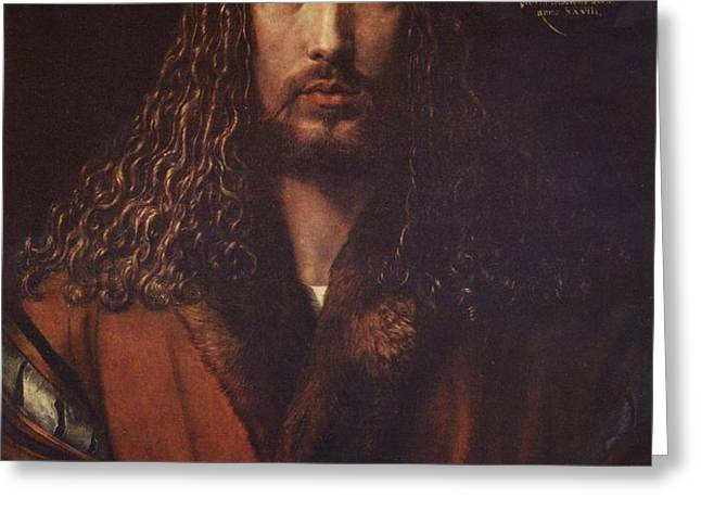 Self Portrait  Durer Greeting Card by PG REPRODUCTIONS