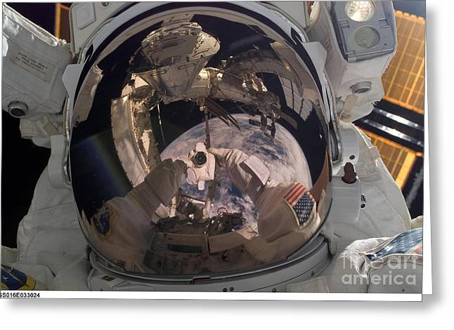 Self-portrait Photographs Greeting Cards - Self-portrait Of Astronaut Robert Greeting Card by Nasa