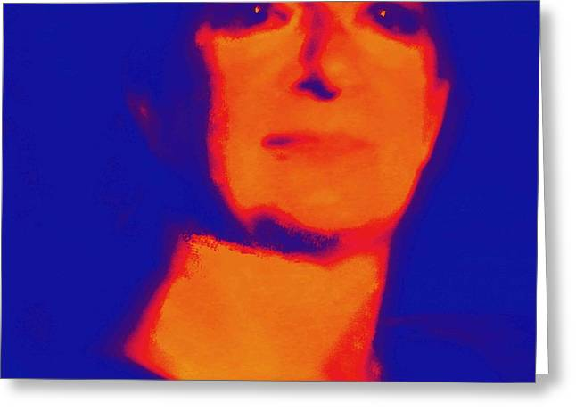 Enterprise Digital Art Greeting Cards - Self portrait on Fire For the Future Greeting Card by Carolina Liechtenstein