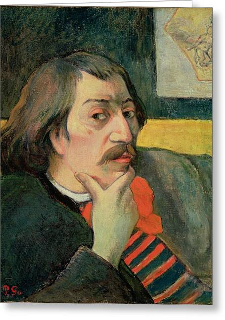 Self Portrait Paintings Greeting Cards - Self portrait Greeting Card by Paul Gauguin