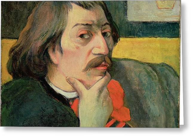 Self portrait Greeting Card by Paul Gauguin