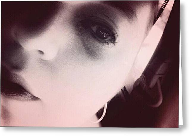 Self-portrait Photographs Greeting Cards - Self Portrait Three Greeting Card by Emma Milstead
