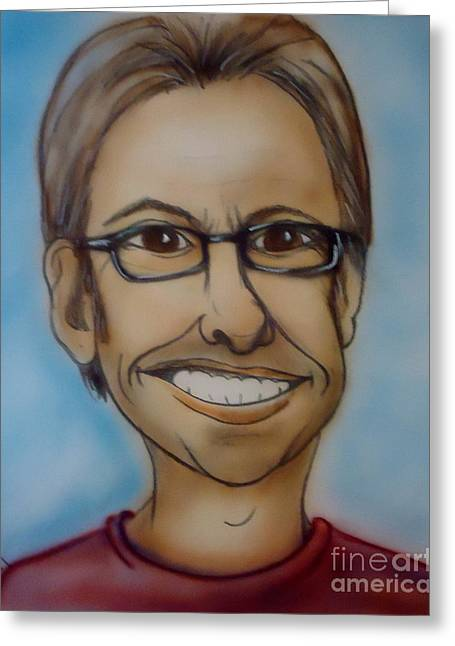 Self-portrait Greeting Cards - Selfish Greeting Card by Pete Maier