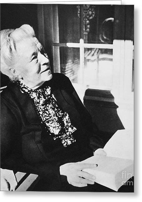 Selma Greeting Cards - Selma Lagerlof (1858-1940) Greeting Card by Granger