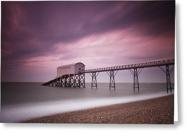 Destiny Photographs Greeting Cards - Selsey Lifeboat Station Greeting Card by Nina Papiorek
