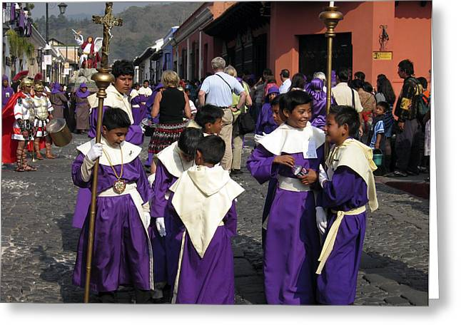 Recently Sold -  - Holy Week Greeting Cards - Semana Santa Procession II Greeting Card by Kurt Van Wagner