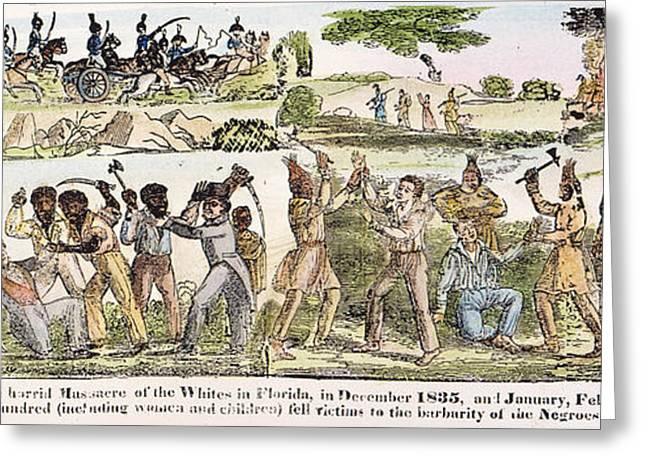 African-american Greeting Cards - SEMINOLE WAR, 1830s Greeting Card by Granger