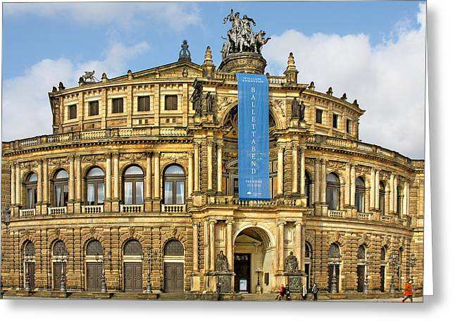 Deutschland Greeting Cards - Semper Opera House Dresden Greeting Card by Christine Till