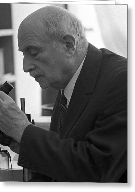 80s Greeting Cards - Semyon Volfkovich, Soviet Chemist Greeting Card by Ria Novosti
