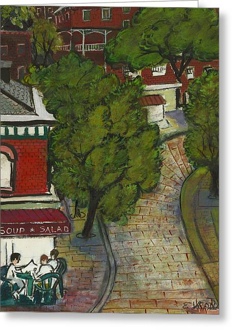 Ithaca Greeting Cards - Seneca and Aurora St Ithaca New York Greeting Card by Ethel Vrana