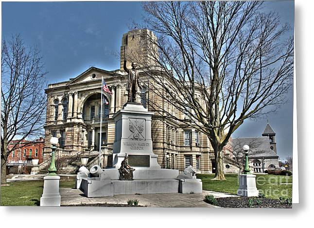 Seneca Greeting Cards - Seneca County Courthouse Greeting Card by Jack Schultz