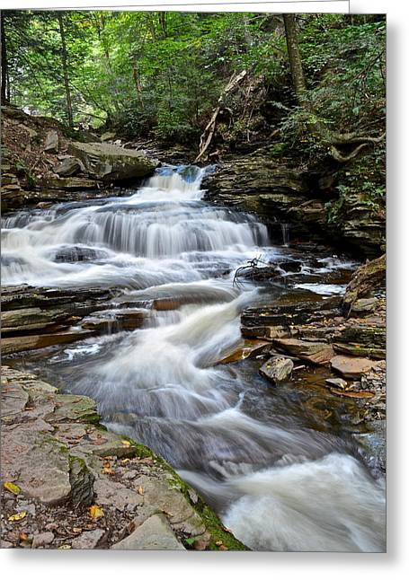 Marvelous View Greeting Cards - Seneca Falls Greeting Card by Frozen in Time Fine Art Photography