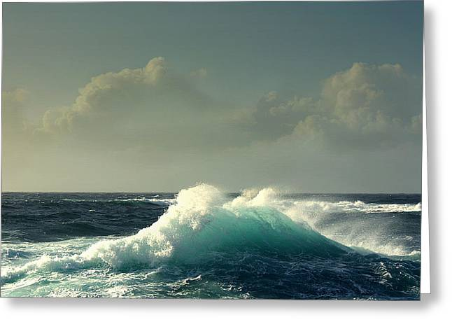 Sennen Surf Seascape Greeting Card by Linsey Williams