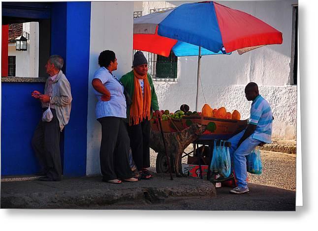 Senor Greeting Cards - Senor Papaya Greeting Card by Skip Hunt