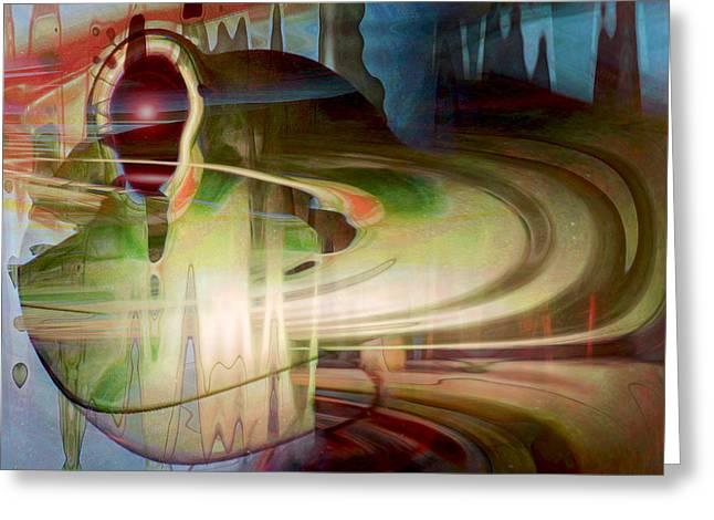Sensing The Spheres Greeting Card by Linda Sannuti