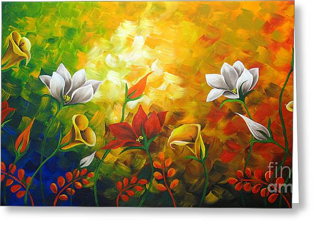 Floral Photographs Paintings Greeting Cards - Sentient Flowers Greeting Card by Uma Devi