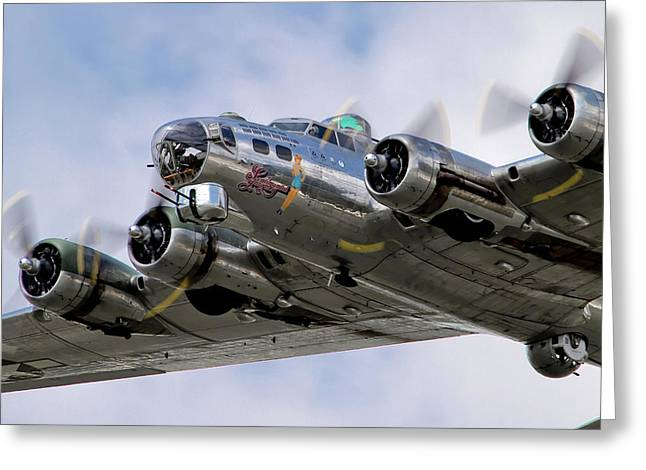 Airshow Greeting Cards - Sentimental Journey Greeting Card by Bill Lindsay