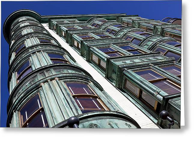 Sentinels Greeting Cards - Sentinel building  Greeting Card by Garry Gay