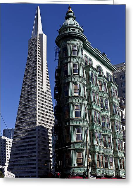 Sentinels Greeting Cards - Sentinel Building San Francisco Greeting Card by Garry Gay