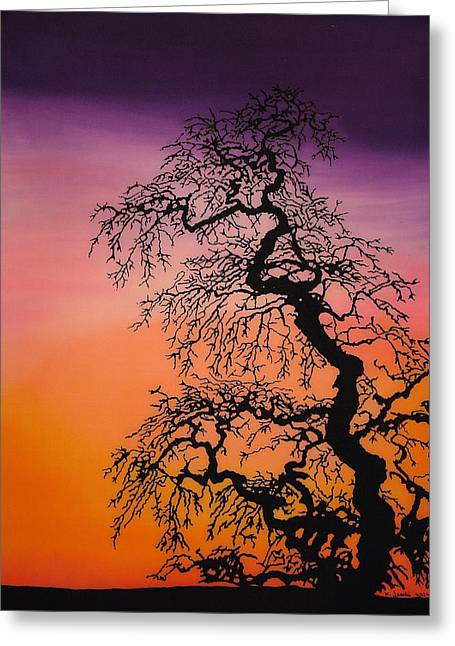 Sunset Tapestries - Textiles Greeting Cards - Sentinel  Greeting Card by Kim Jacobi