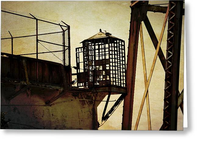 Alcatraz Greeting Cards - Sentry box in Alcatraz Greeting Card by RicardMN Photography