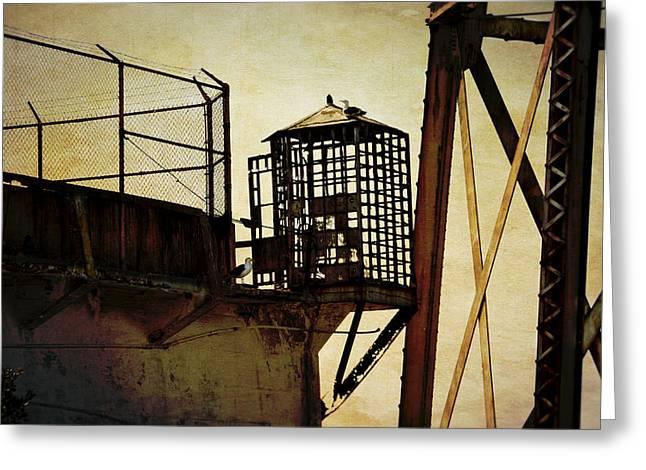 Sentry Box In Alcatraz Greeting Card by RicardMN Photography