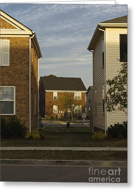 Next To Tree Greeting Cards - Separation Between Homes Greeting Card by Roberto Westbrook