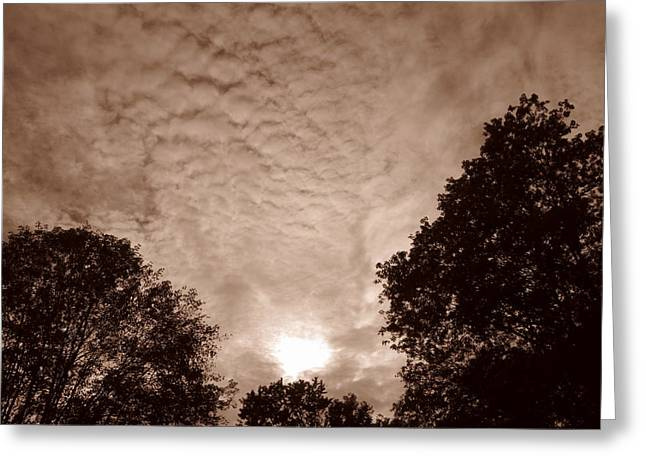 Shane Brumfield Greeting Cards - Sepia Clouds Greeting Card by Shane Brumfield