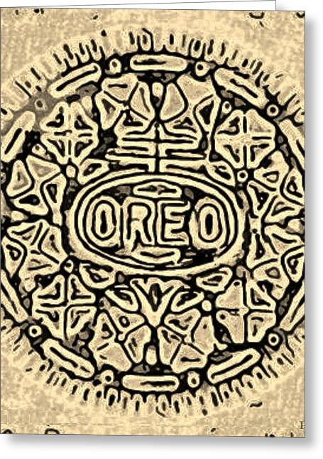 Oreo Greeting Cards - Sepia Oreo Greeting Card by Rob Hans