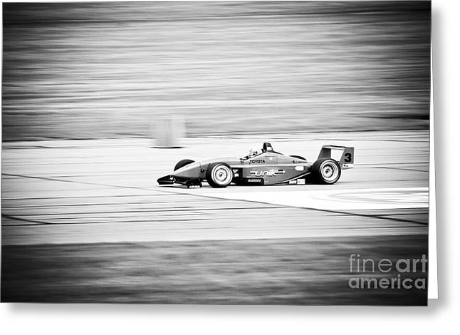Champs Greeting Cards - Sepia Racing Greeting Card by Darcy Michaelchuk