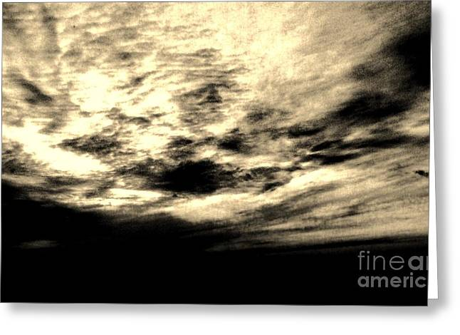 Sunset Posters Digital Art Greeting Cards - Sepia Sky Greeting Card by Marsha Heiken