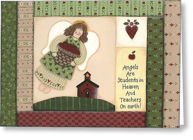 September Angel Greeting Card by Debbie McMaster