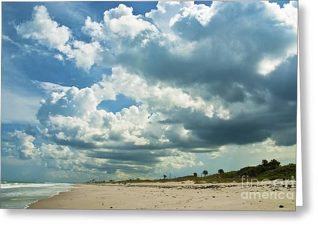 Florida East Coast Greeting Cards - September Beach 3 Greeting Card by Susanne Van Hulst
