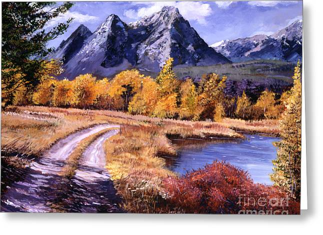 Peaceful Scenery Greeting Cards - September High Country Greeting Card by David Lloyd Glover